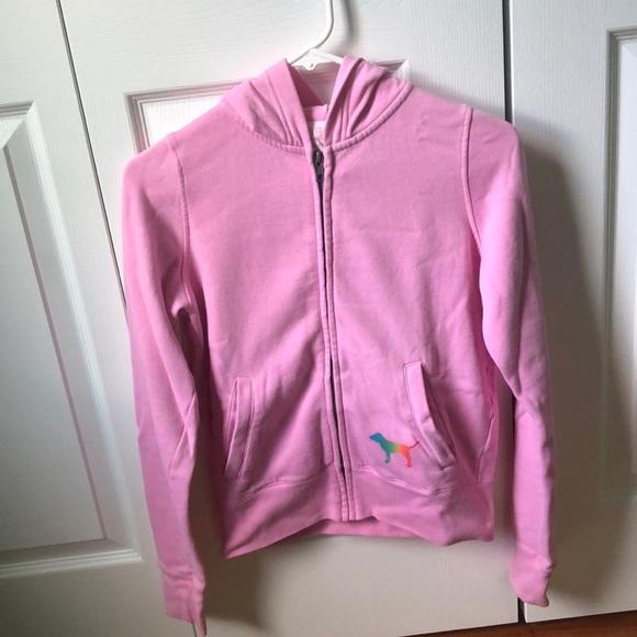 69afcc52c01b8 🌻 3/$15 Victoria's Secret Pink Rainbow Sweatshirt